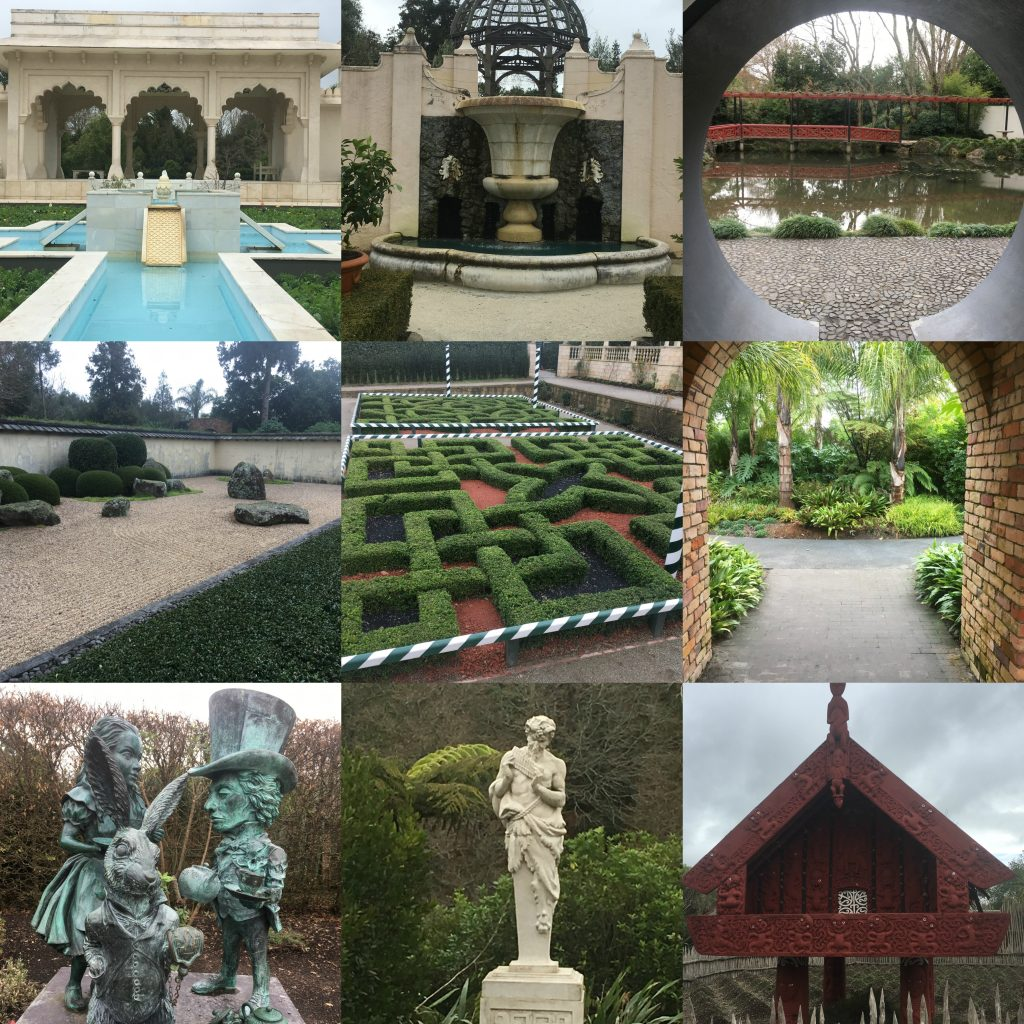 Hamilton Gardens Collage | Platinum Transfers & Tours NZ